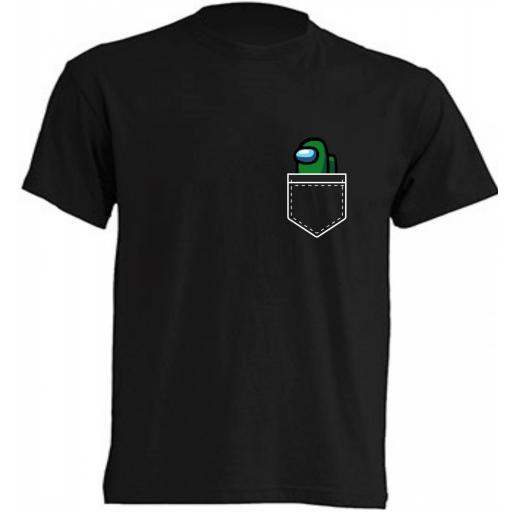 Camiseta Among Us bolsillo [3]
