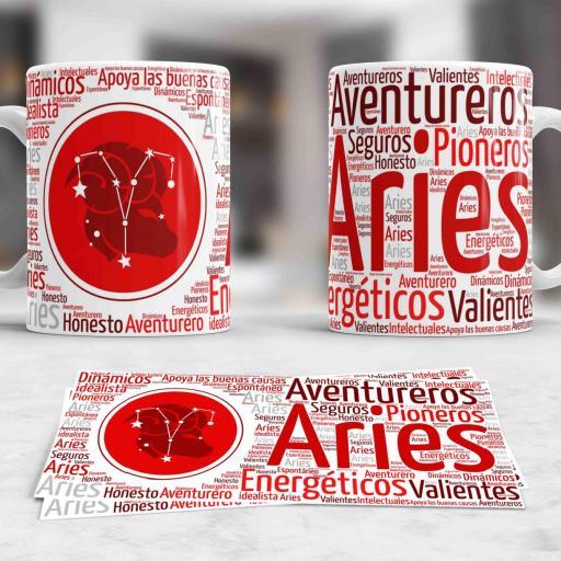 Taza Signos del Zodíaco Aries (030)