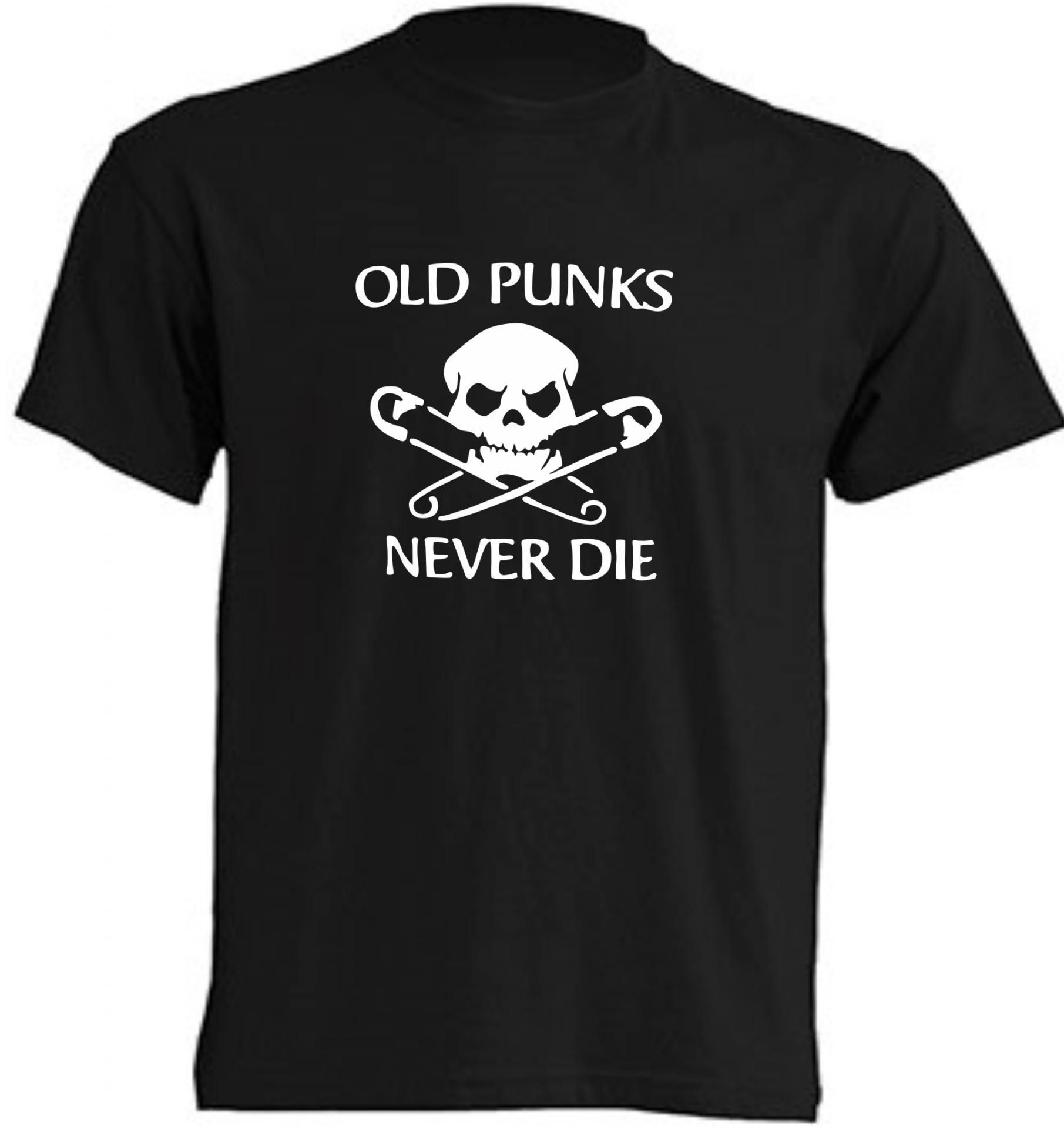 CAMISETA OLD PUNKS NEVER DIE