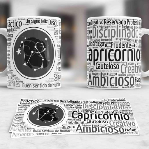 Taza Signos del Zodíaco Capricornio (032)