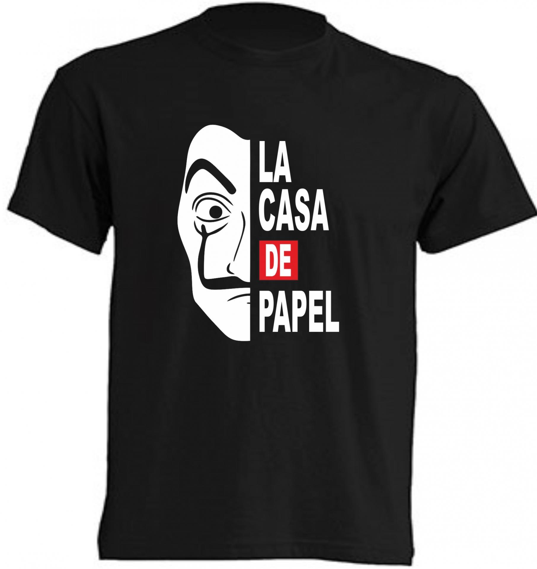 CAMISETA LA CASA DE PAPEL CARETA