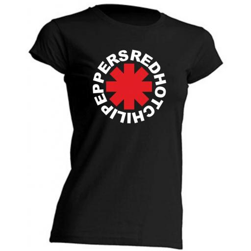 CAMISETA DE CHICA ENTALLADA RED HOT CHILI PEPPERS