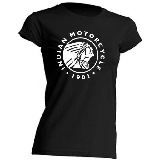 CAMISETA DE CHICA ENTALLADA INDIAN MOTORCYCLE 1901