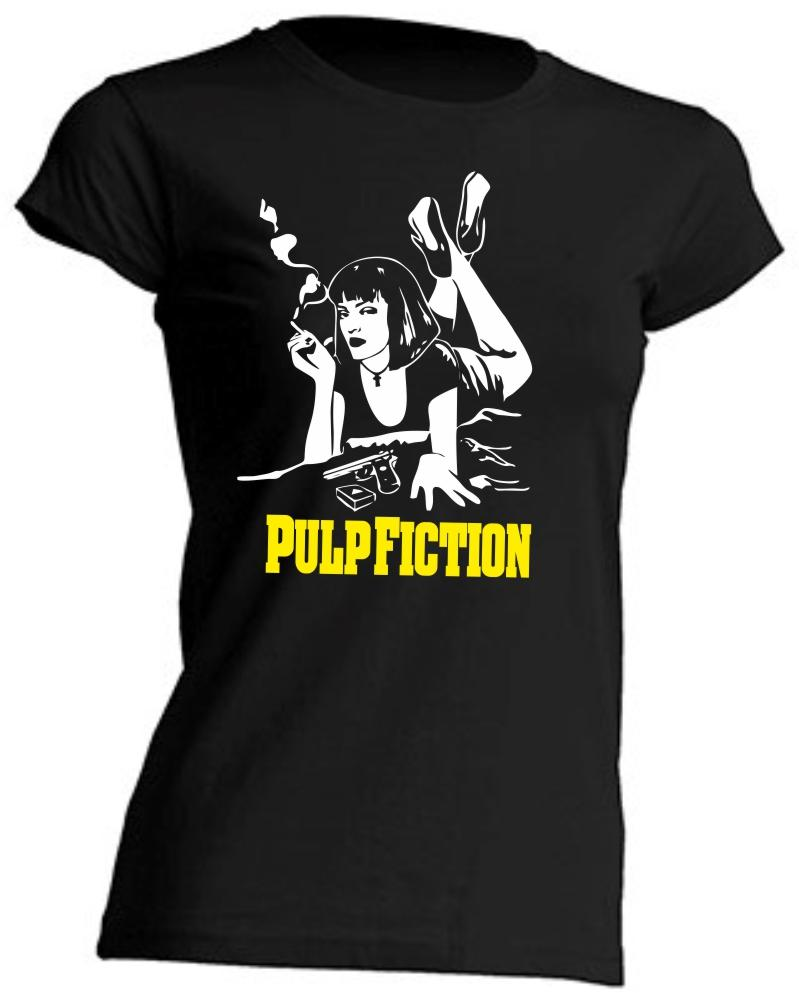 CAMISETA DE CHICA PULP FICTION