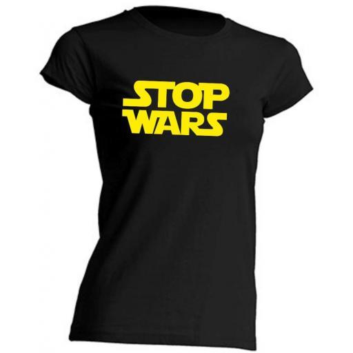 CAMISETA DE CHICA STOP WARS