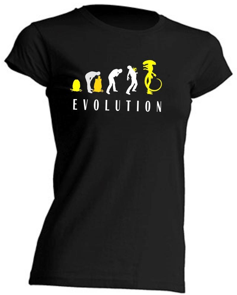 CAMISETA DE CHICA ALIEN EVOLUTION
