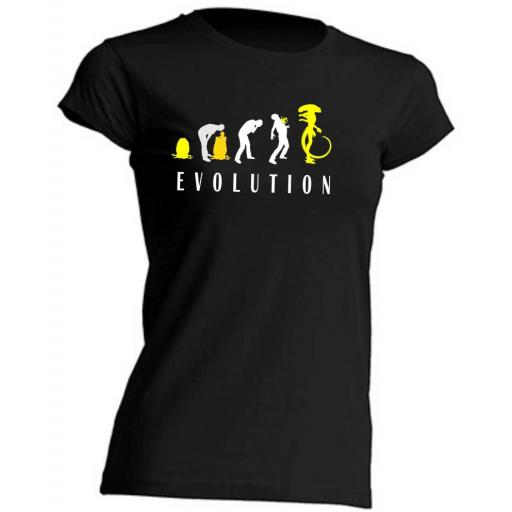 CAMISETA DE CHICA ALIEN EVOLUTION