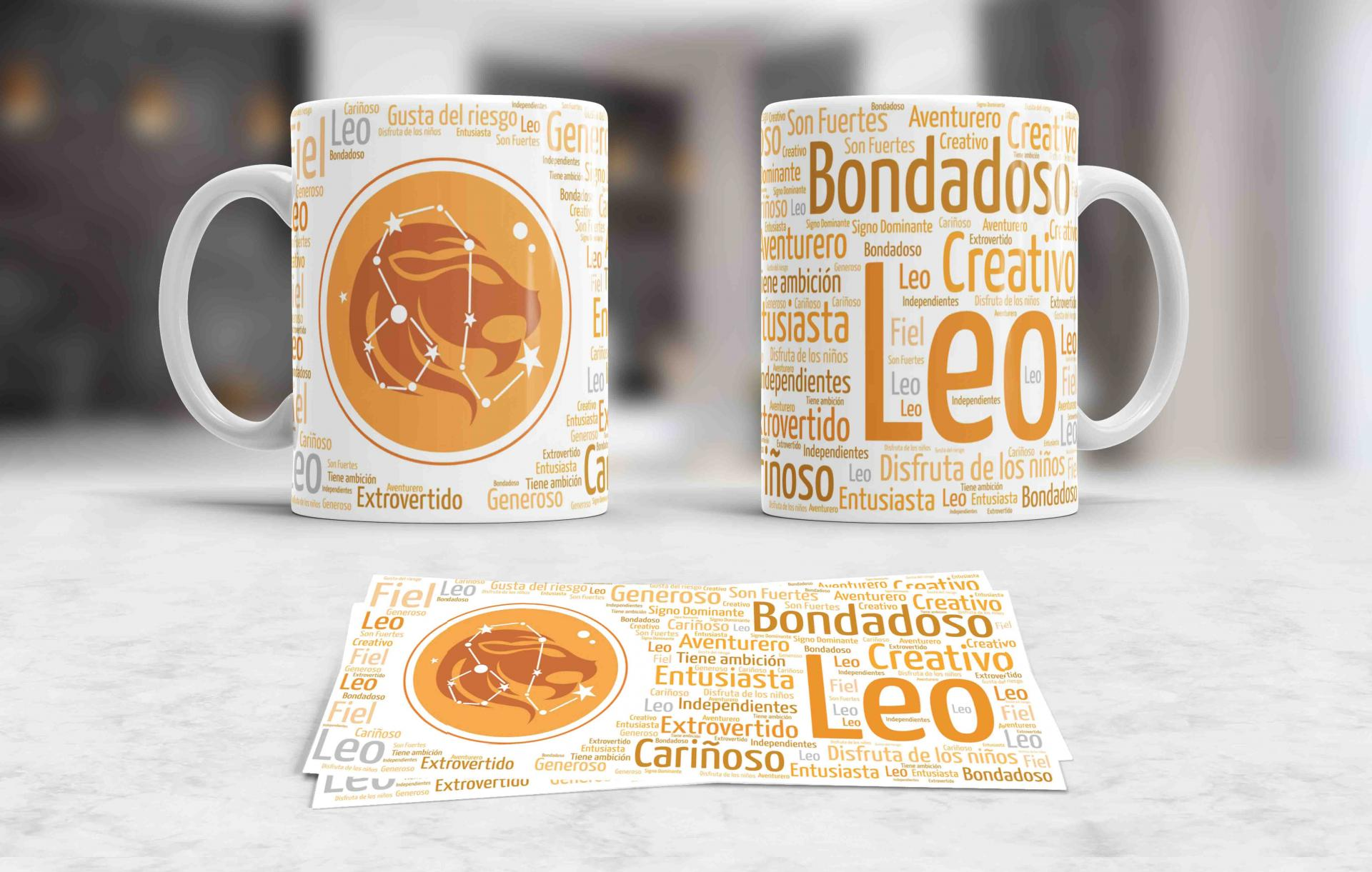 Taza Signos del Zodíaco Leo (035)