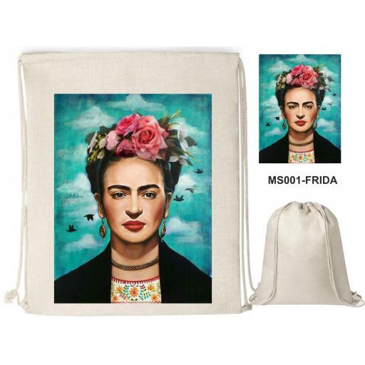 Mochila de cuerdas sublimación - Frida - MS001