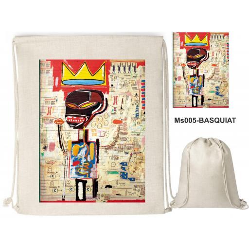 Mochila de cuerdas sublimación - Basquiat - MS005