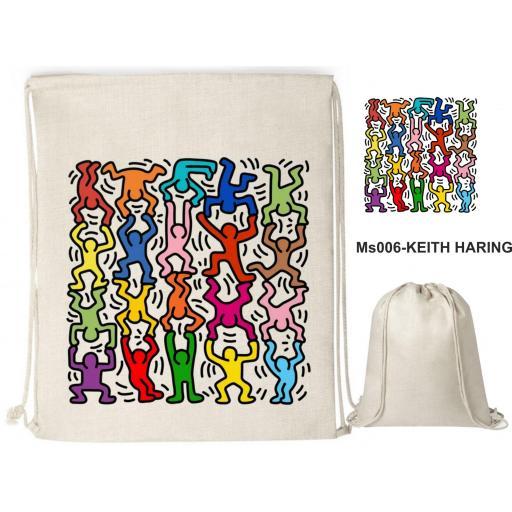 Mochila de cuerdas sublimación - Keith Haring - MS006