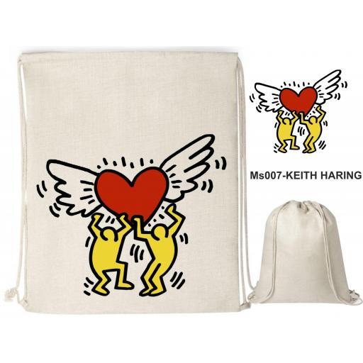 Mochila de cuerdas sublimación - Keith Haring - MS007