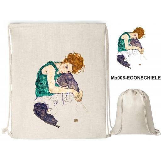 Mochila de cuerdas sublimación - Egon Schiele - MS008