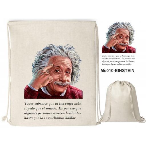 Mochila de cuerdas sublimación - Albert Einstein - MS010