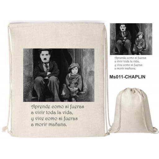 Mochila de cuerdas sublimación - Chaplin - MS011