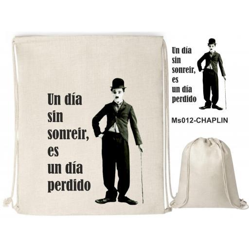 Mochila de cuerdas sublimación - Chaplin - MS012