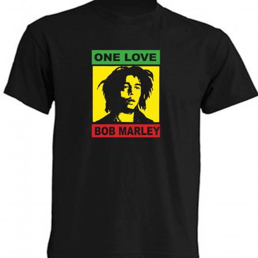 CAMISETA ONE LOVE BOB MARLEY
