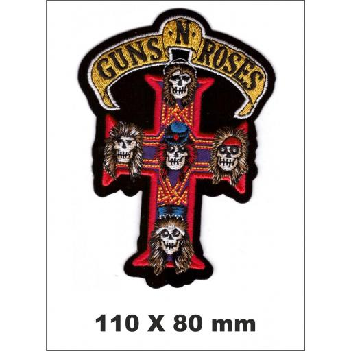 PARCHE BORDADO GUNS N ROSES