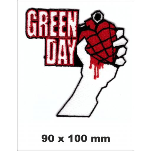 PARCHE BORDADO GREEN DAY