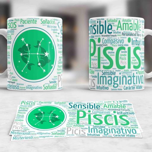 Taza Signos del Zodíaco Piscis (037)