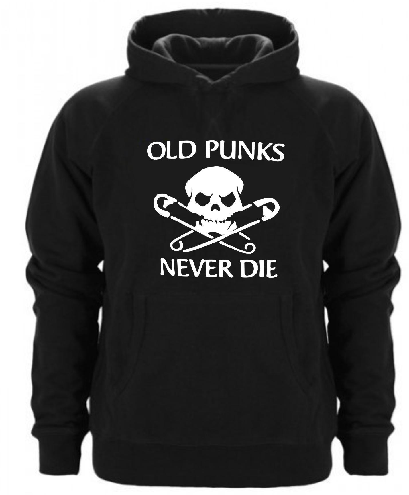 SUDADERA CAPUCHA OLD PUNKS NEVER DIE