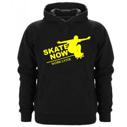 SUDADERA CAPUCHA SKATE NOW WORK LATER