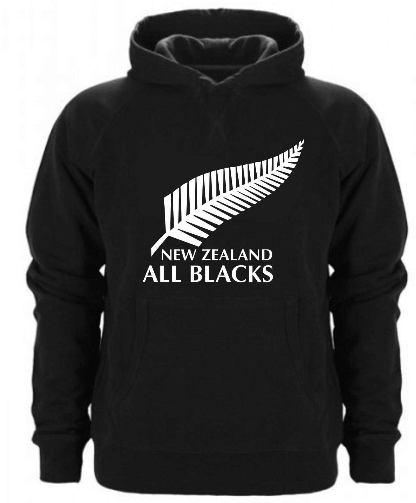 SUDADERA CAPUCHA NEW ZEALAND ALL BLACKS