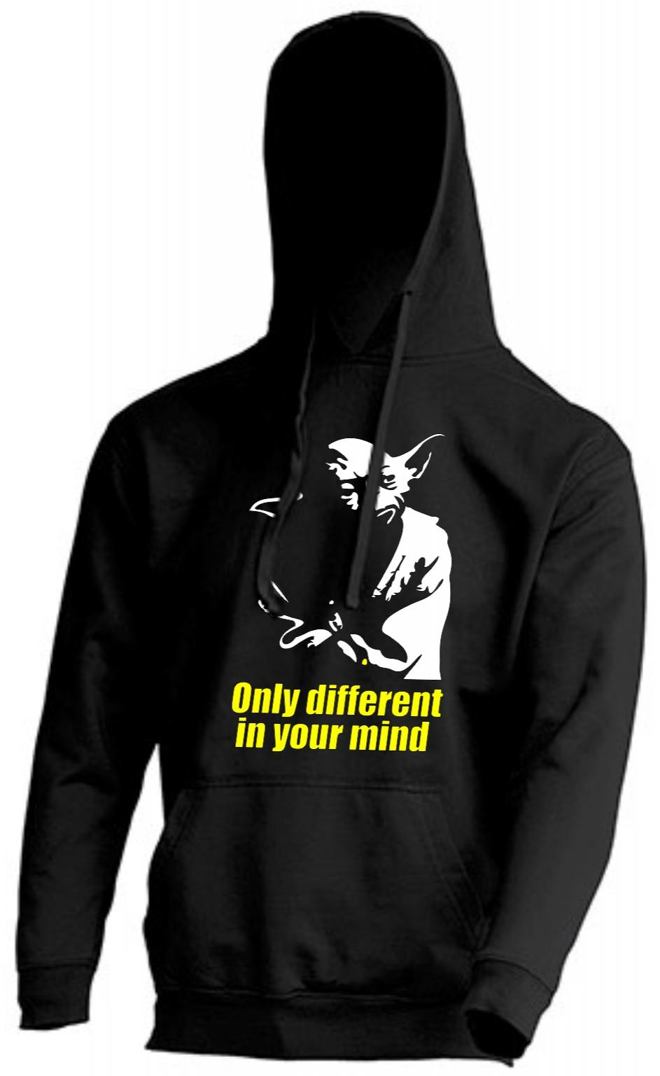 SUDADERA CAPUCHA YODA ONLY DIFFERENT IN YOUR MIND