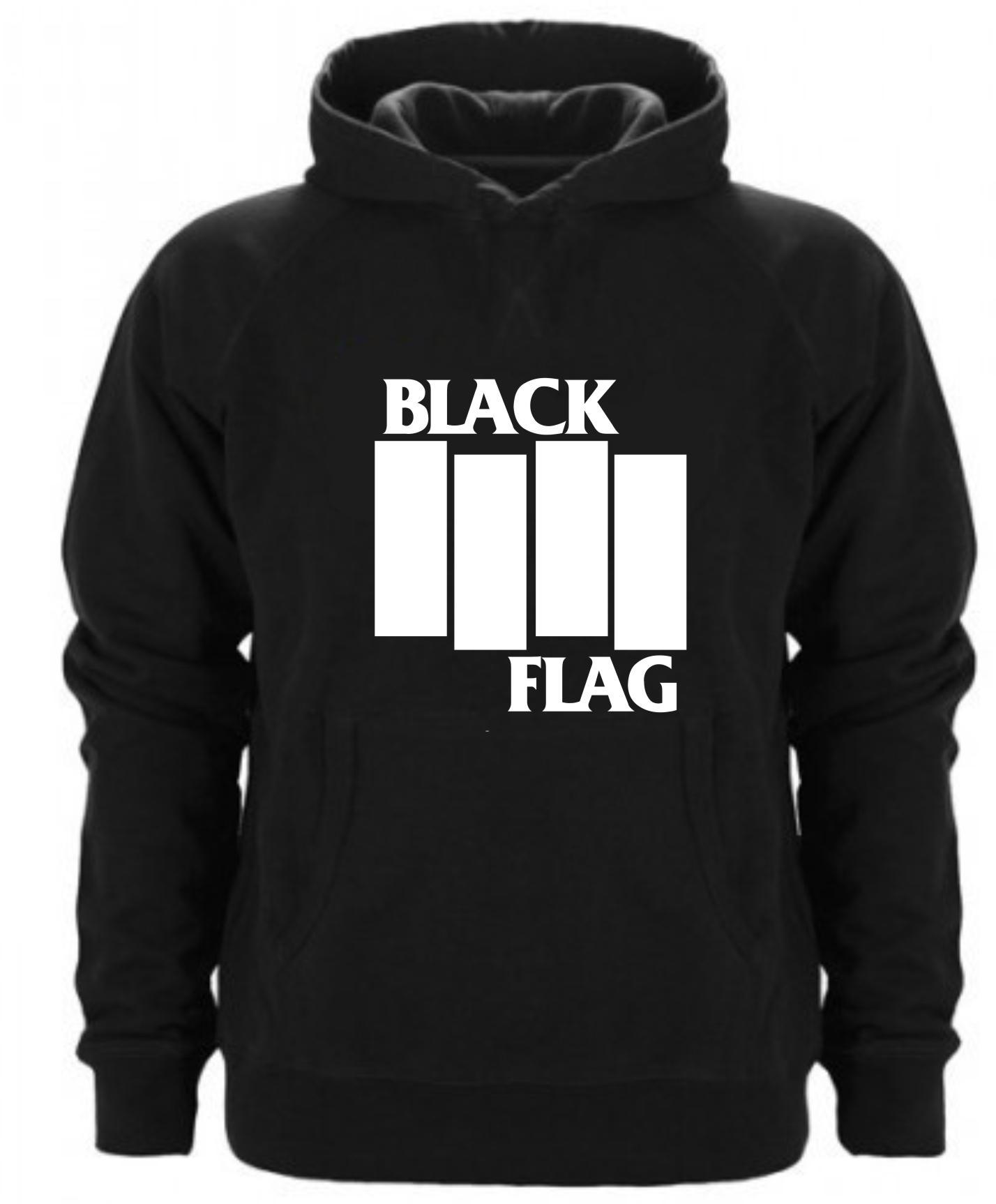 SUDADERA CAPUCHA BLACK FLAG