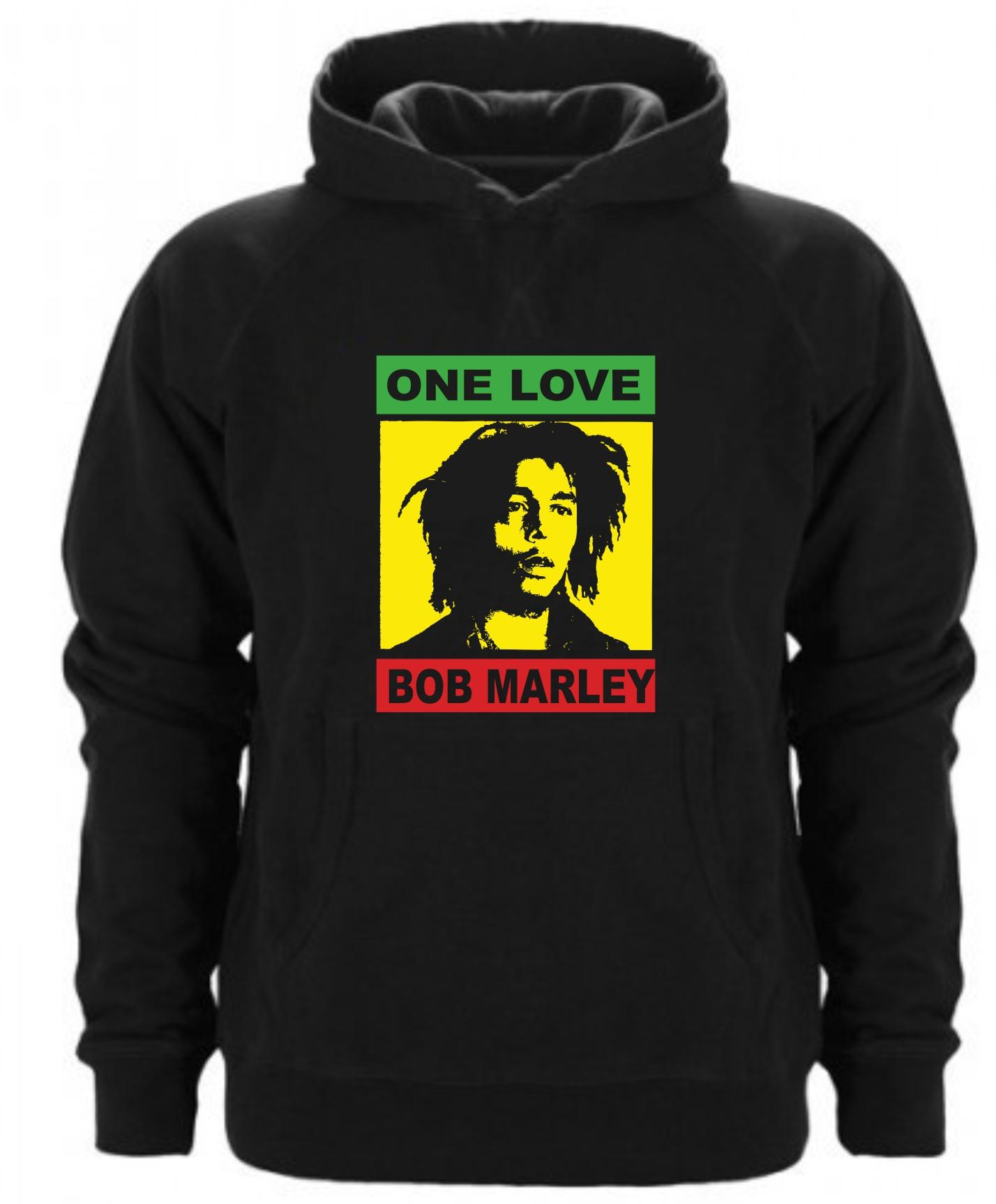 SUDADERA CAPUCHA ONE LOVE BOB MARLEY