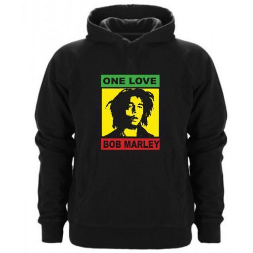 SUDADERA CAPUCHA ONE LOVE BOB MARLEY [0]