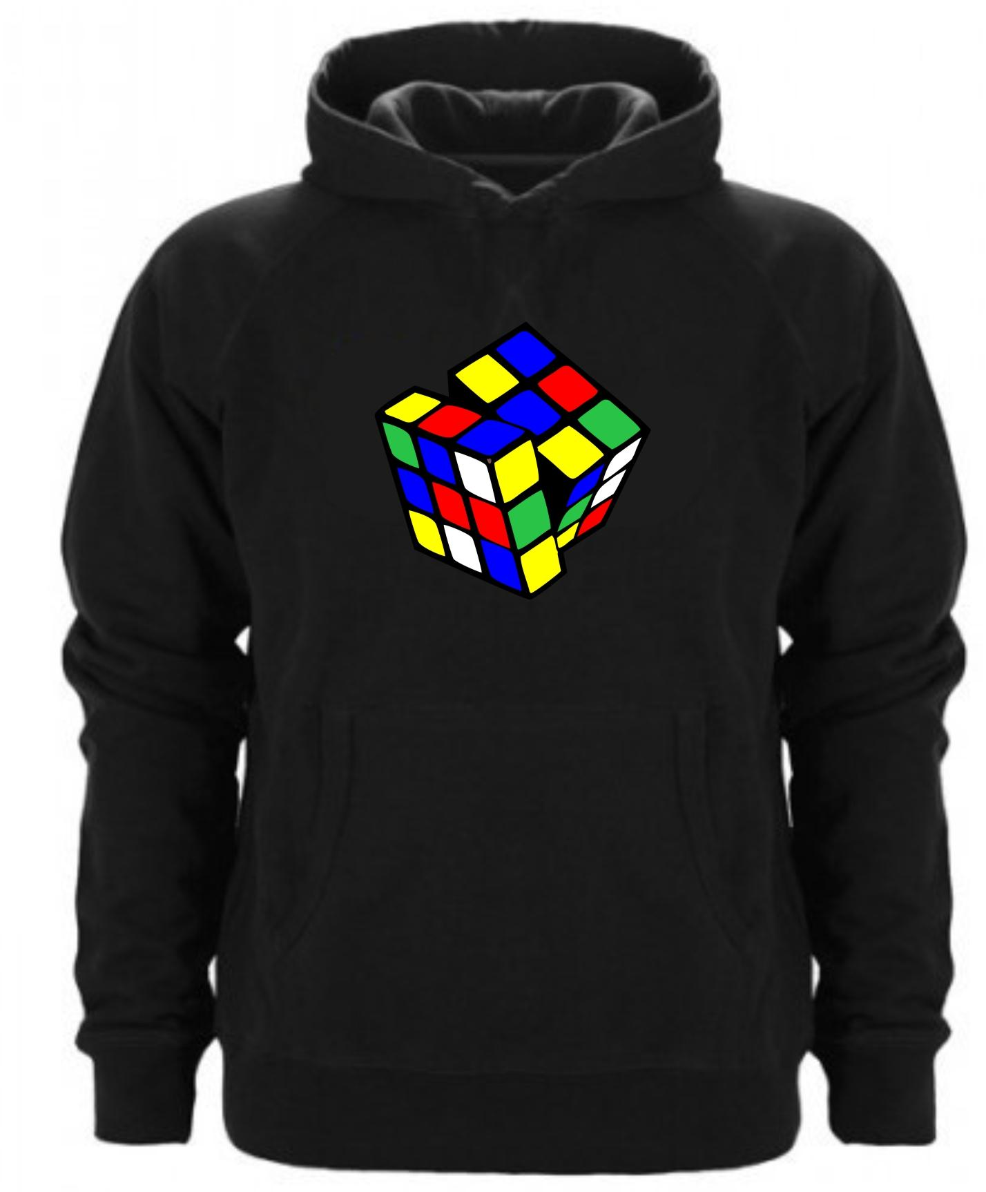 Sudadera Capucha Cubo de Rubik