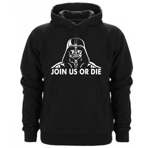 Sudadera Capucha Join  us or die - Starwars