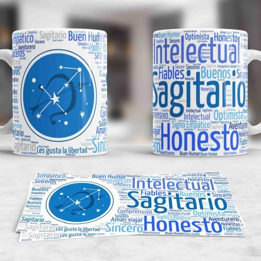 Taza Signos del Zodíaco Sagitario (038) [0]