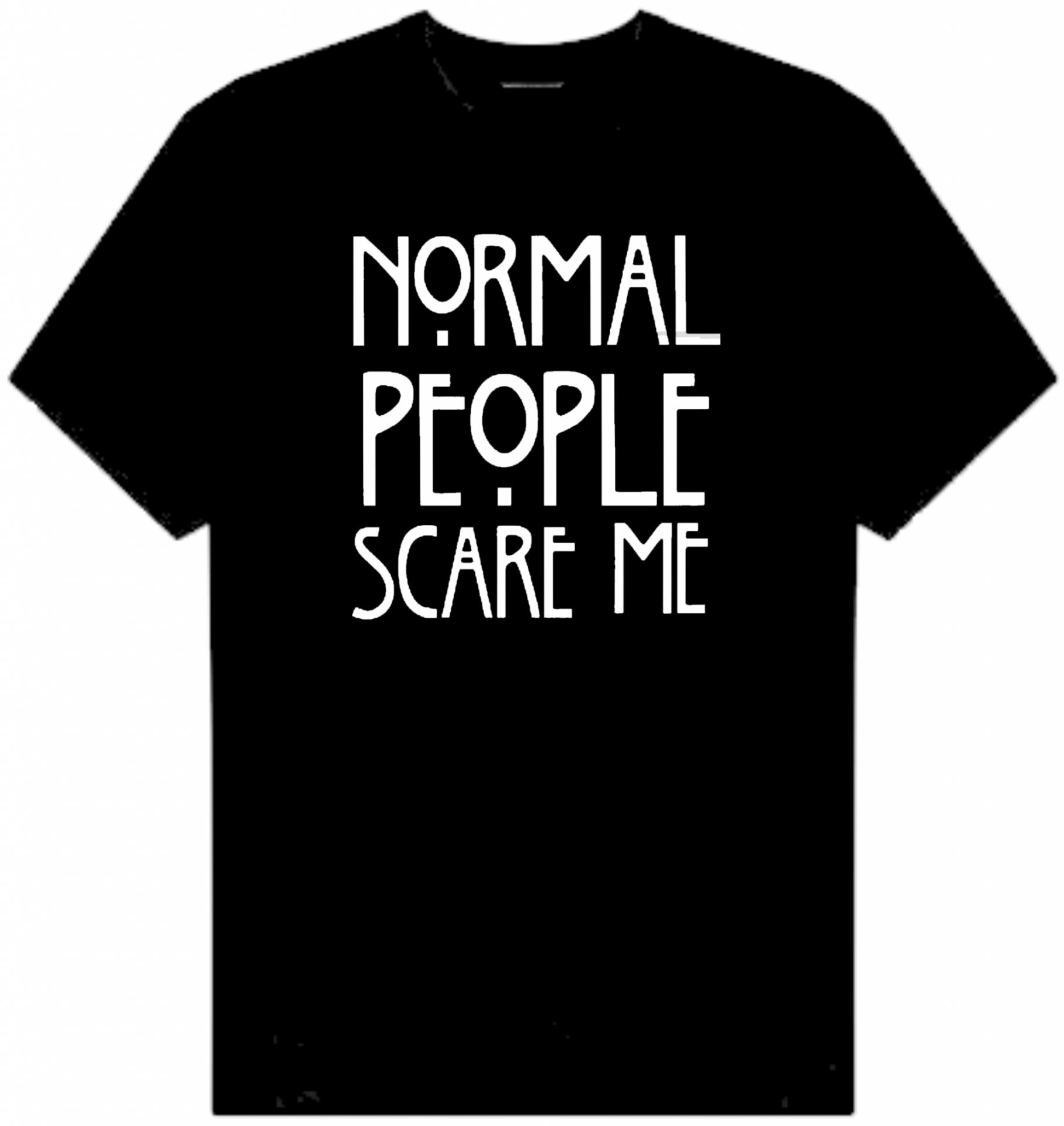 CAMISETA NORMAL PEOPLE SCARE ME
