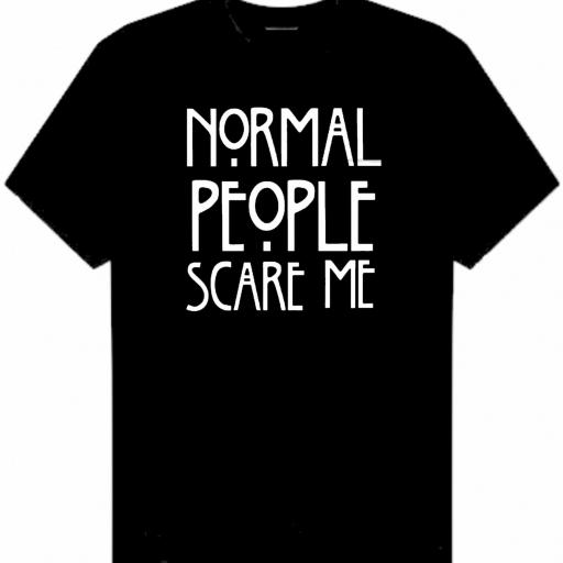 CAMISETA NORMAL PEOPLE SCARE ME [0]