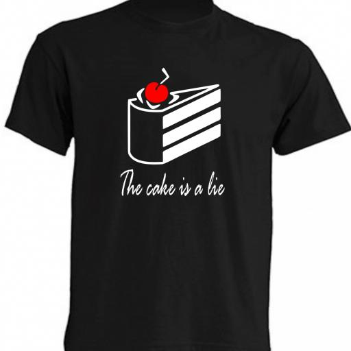 CAMISETA THE CAKE IS A LIE