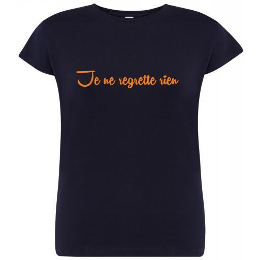 Camiseta de chica Je ne regrette rien