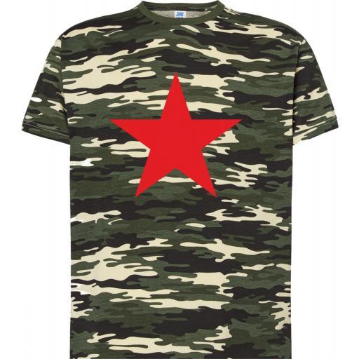 Camiseta Camouflage con Estrella Roja