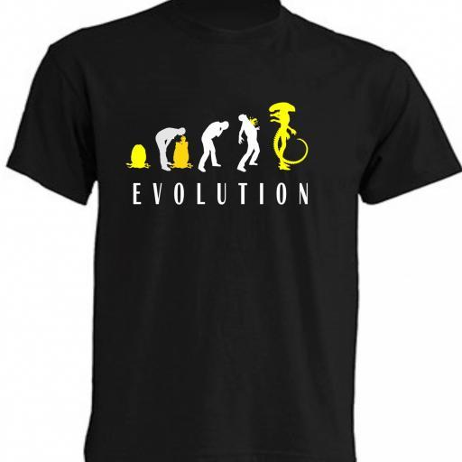 CAMISETA EVOLUTION ALIEN