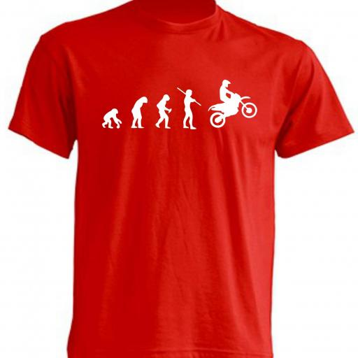 CAMISETA EVOLUTION BIKER ROJA