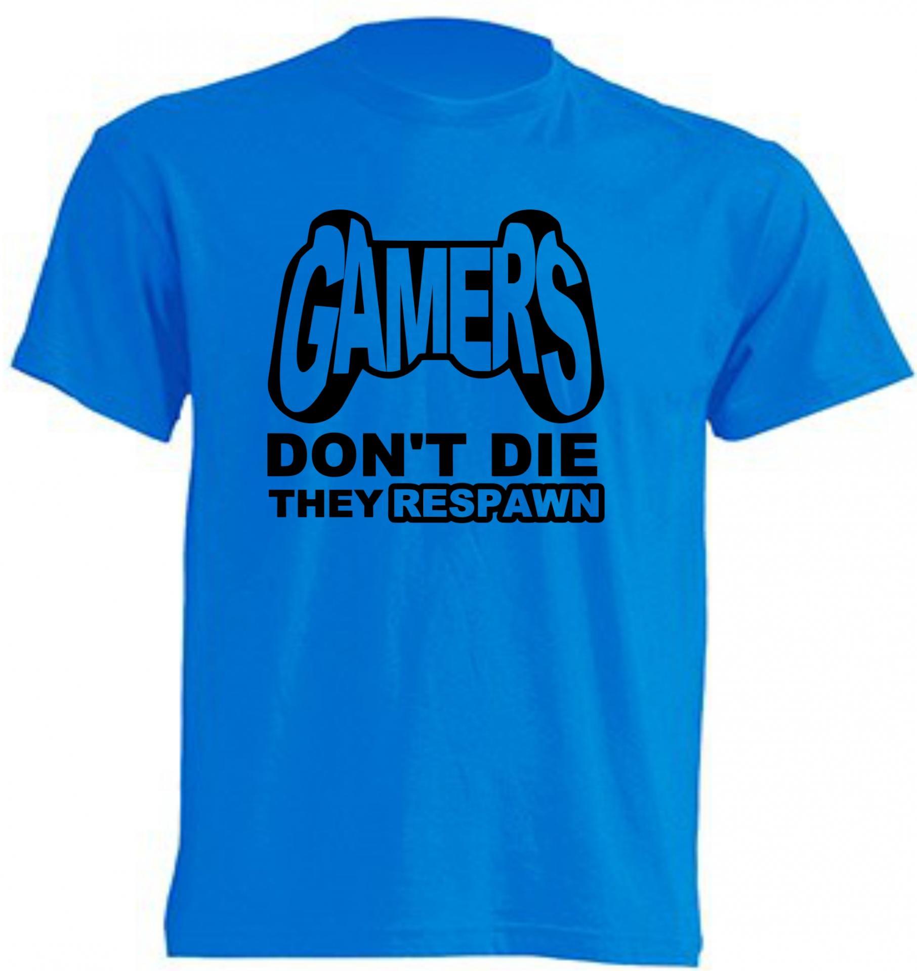 CAMISETA GAMERS DON'T DIE