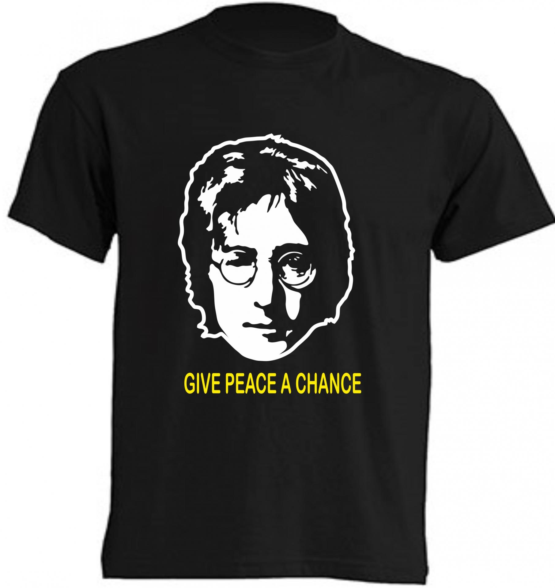 CAMISETA JOHN LENNON GIVE PEACE A CHANCE