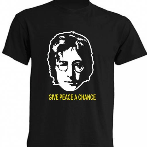 CAMISETA JOHN LENNON GIVE PEACE A CHANCE