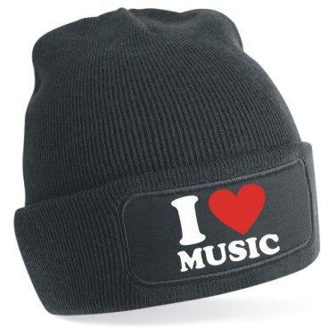 Gorro de punto I love Music