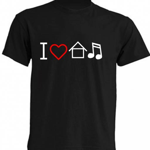 CAMISETA I LOVE HOUSE MUSIC