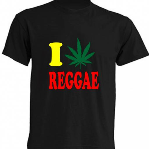 CAMISETA I LOVE REGGAE