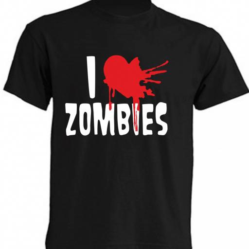 CAMISETA I LOVE ZOMBIES