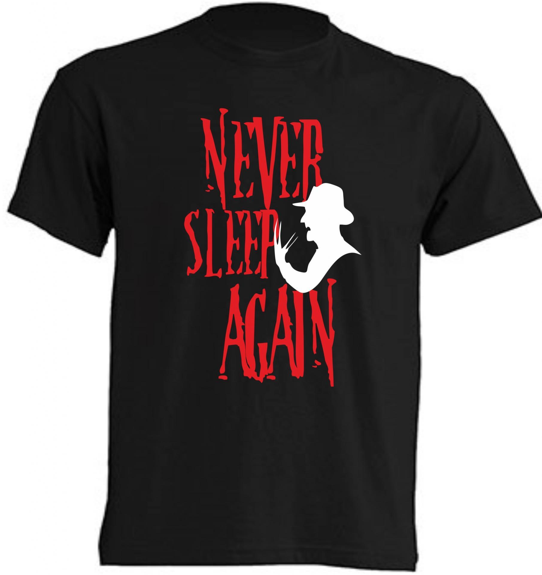 CAMISETA NEVER SLEEP AGAIN - FRIDAY 13TH