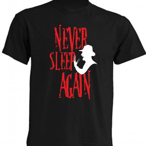 CAMISETA NEVER SLEEP AGAIN - FRIDAY 13TH